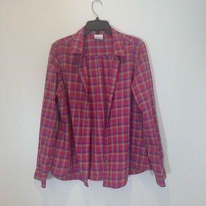 Columbia Plaid Button Down Shirt Size XL